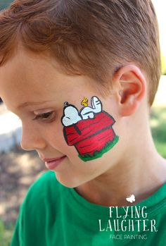 CHEEK ART Design Examples | Flying Laughter Face Painting
