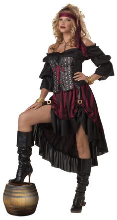 Sexy Pirate Wench Dress Costume Adult
