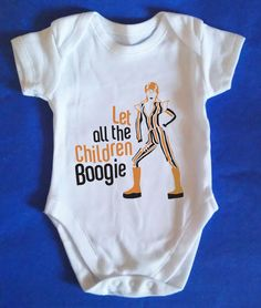 fab735928 Let all the children boogie Baby Grow David Bowie Ziggy Stardust Harry  Potter Baby Clothes,