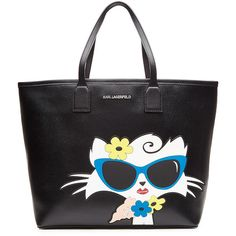 Karl Lagerfeld Choupette on the Beach PVC Shopper (1.760 HRK) ❤ liked on Polyvore featuring bags, handbags, tote bags, black, handbags totes, purse tote, zip top tote bag, tote purse and summer tote bags