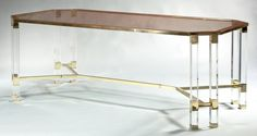 Plex Dining Table with Glass Top