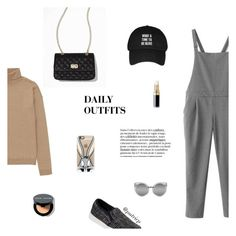 """""""DAILY OUTFITS #5"""" by putricp ❤ liked on Polyvore featuring Uniqlo, Express, J/Slides, Casetify, Chanel, Bobbi Brown Cosmetics, women's clothing, women's fashion, women and female"""