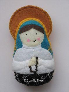 Blessed Jacinta of Fatima Felt Saint Softie. $19.00, via Etsy.