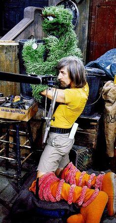 Caroll Spinney was a multi-tasker. Meet Oscar the Big Bird. (Jim Henson, Muppets, Sesame Street)