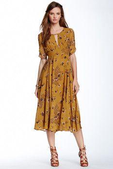 Free People Bonnie Floral Print Dress