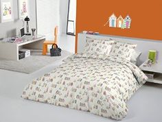Happy Days Beach Huts Coastal Lighthouse Boats Seaside Fabric Quilt Duvet Cover (Tuttifrutti): Amazon.co.uk: Kitchen & Home