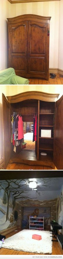 Narnia! Would b cool for a kids closet!