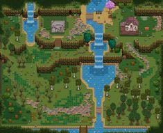 Stardew Farms, Stardew Valley Farms, Animal Crossing Qr Codes Clothes, Animal Crossing Pocket Camp, Stardew Valley Layout, Stardew Valley Tips, Valley Game, Forest Map, Map Layout