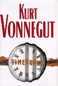 This is Vonnegut's last Novel, and he certainly goes out with a bang. The literary devices that Vonnegut uses throughout his catalogue are all utilized in Timequake with new force and life. Vonnegut regularly steps outside of the fiction to analyze the novel he is writing, and clue the reader into what he is thinking, who he is basing his characters on, memories of his life, and so on.