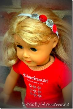 Rhinestone Headband for American Girl dolls