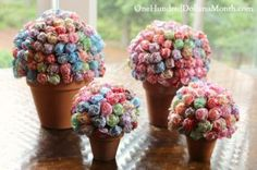 Flower Pot Candy Bouquet - One Hundred Dollars a Month Holiday Baskets, Gift Baskets For Men, Themed Gift Baskets, Raffle Baskets, Lollipop Bouquet, Candy Bouquet Diy, Diy Bouquet, Bouquets, Easter Candy