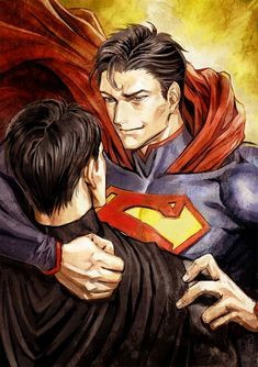 Batman Álbum (Yaoi) - Alfred Pennyworth x Bruce Wayne Superman X Batman, Superman Family, Super Batman, Funny Marvel Memes, Dc Comics Superheroes, Superbat, Comic Movies, Clark Kent, Dc Heroes
