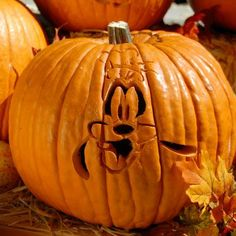 "Goofy Pumpkin Carving Template! Thanks for joining our ""Pin a Pumpkin"" Party!"