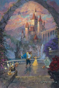 Beast and Belle Forever - เจ้าหญิงเบล - Disney Pixar, Film Disney, Arte Disney, Disney And Dreamworks, Disney Magic, Disney Movies, Punk Disney, Disney Characters, Disney Fine Art