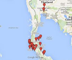 26 Places in 9 Provinces in Thailand