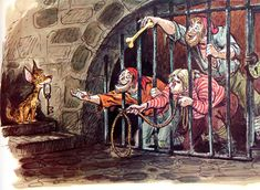 Illustration by Marc Davis for Disney's Pirates of the Caribbean ride.