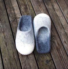 wet felted slippers Pūpolainās www.pamana.lv