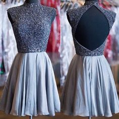 Sexy Homecoming Dresses,A-line Homecoming Dresses,Beaded Homecoming Dresses,Backless Homecoming Dresses,Short Prom Dresses,Party Dresses