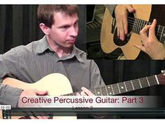 Percussive Guitar To A New Level. Level Of Awareness, Playing Guitar, Acoustic Guitar, Music Instruments, Teaching, Guitars, Palm, Top, Musical Instruments