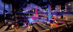 VIP section inside Haze Nightclub at Aria.