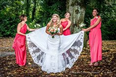 Hothouse picture showing off the lace on her gown