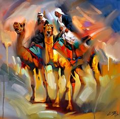 Gorgeous painting with wonderful colours by ALI NEMAH