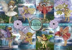 INSTANT DOWNLOAD Water Fairies  No270  Printable by norvette21, $4.50