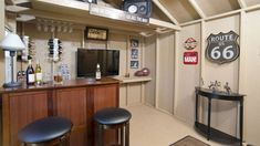 Awesome Backyard Shed Bar Ideas Costco Ridgemoor Shed Bar Man Cave Interior 2