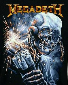 Vic Rattlehead Megadeth Graphic T Shirt By Heavy Metal Bands, Metal Music Bands, Heavy Metal Rock, Heavy Metal Music, Hard Rock, Thrash Metal, Rock Posters, Band Posters, Metallica