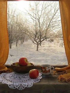 Love this winter window view! Snow Scenes, Winter Scenes, Ventana Windows, I Love Winter, Looking Out The Window, Winter Magic, Window View, Through The Window, Winter Beauty
