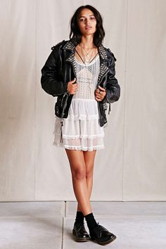 Urban Renewal Vintage Studded Leather Jacket