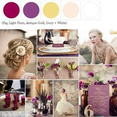 Insert fuschia color from the girls' dress- tone down the plum color.