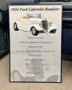 Check out this awesome 34 #ford #cabriolet #roadster we just finished off!! Get one for your car at showcarsign.com #34ford #34fordroadster #fordroadster #hotrod #hotrods #classiccars #classichotrod #goodguys #goodguyscarshow