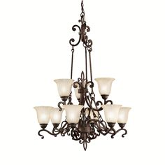 A majestic large chandelier with European detail, two tiers and a Carre bronze finish frame. wide x overall height is Included extra lead wire x of chain Style # 79833 at Lamps Plus. Cool Lighting, Chandelier Lighting, Art Nouveau, Décor Antique, Shops, Large Chandeliers, Decorative Hooks, European House, Lighting Solutions