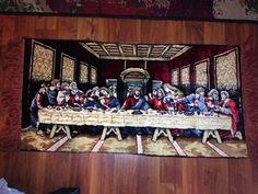 "Jesus Last Supper Vintage Tapestry Wall Art Hanging 38x19"""