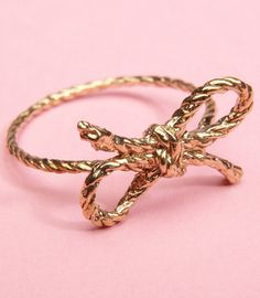 #Fredflare                #ring                     #Kiel #Mead #Forget #Knot #Ring                     Kiel Mead Forget Me Knot Bow Ring                                             http://www.seapai.com/product.aspx?PID=593313