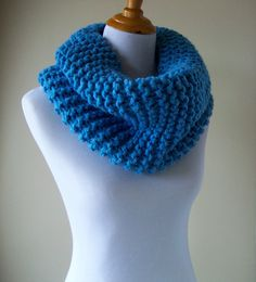 Chunky Knit Scarf  Knit Cowl  Chunky Cowl  Infinity by CdCkDesign