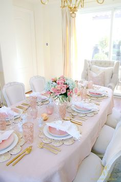 Super Ideas For Birthday Table Design Place Settings Beautiful Table Settings, Birthday Table, Easter Table, Deco Table, Decoration Table, Place Settings, Pretty In Pink, Inspiration, Home Decor