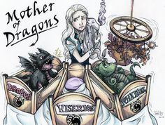 Mother of Dragons by Osakajoe.deviantart.com on @DeviantArt