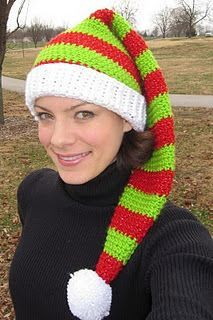 Silly Simple Elf Hat.  Great for a simple stocking cap pattern with easy to read directions.
