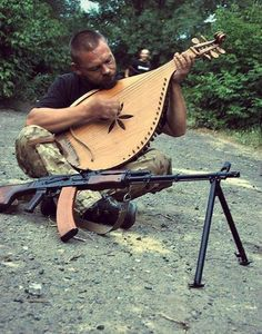 Make music and war. Ukrainian kobza