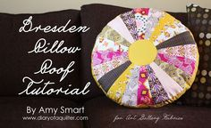 Dresden Pillow Tutorial - Diary of a Quilter - a quilt blog