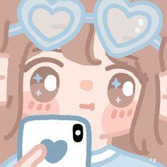 Cute Pastel Wallpaper, Cute Patterns Wallpaper, Cute Wallpaper Backgrounds, Cute Cartoon Wallpapers, Cute Little Drawings, Cute Cartoon Drawings, Kawaii Art, Kawaii Anime Girl, Cute Profile Pictures