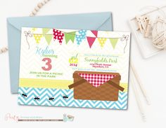 Picnic Birthday Invitation Picninc Birthday Picnic Invitation