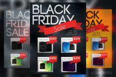 Black Friday Sale Flyer by Krukowski Graphics on @creativework247