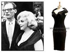 Marilyn-Monroe-Black-Cocktail-Dress