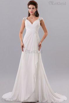 Prinzessin A-Line Sweep Zug ärmellos Elegantes Abendkleid aus Chiffon