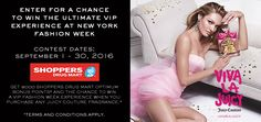 Get 8000 Shoppers Optimum Bonus Points®* and the chance to Win a VIP Fashion Week Experience when you purchase any Juicy Couture Fragrance.**
