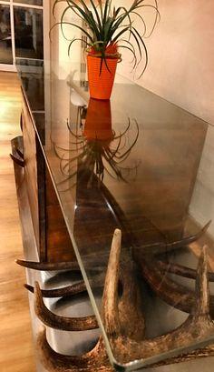 schnapsglashalter aus einem damhirsch geweih handgemachte unikate hirschgeweih deko chalet. Black Bedroom Furniture Sets. Home Design Ideas