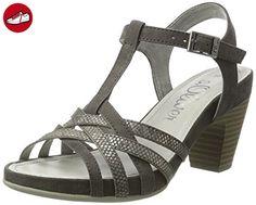 28301, Sandales Bout Ouvert Femme, Gris (Grey 200), 40 EUs.Oliver